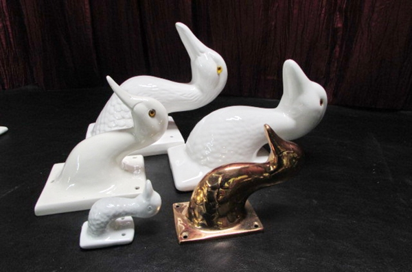 BOOKENDS/BOOK HOLDER/TOWEL HOLDERS & MORE
