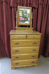 6-DRAWER DRESSER WITH REMOVABLE MIRROR