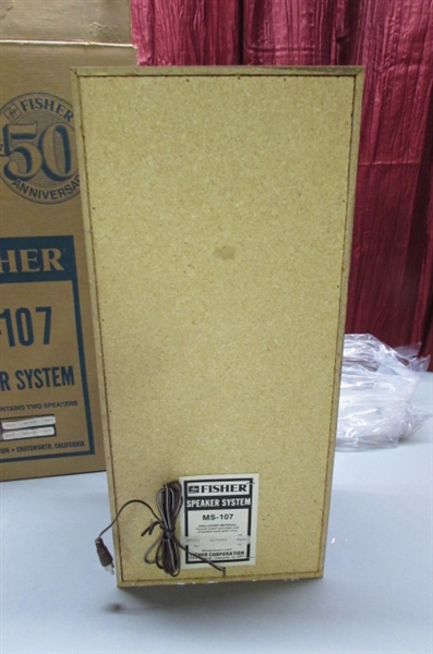 NOS-FISHER SPEAKERS - NEW IN THE BOX