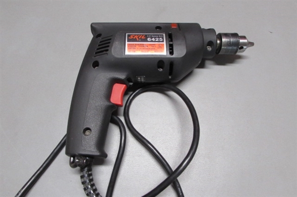 CRAFTSMAN 3/8 ELECTRIC HAMMER DRILL & 1/2 COMMERCIAL REVERSIBLE DRILL
