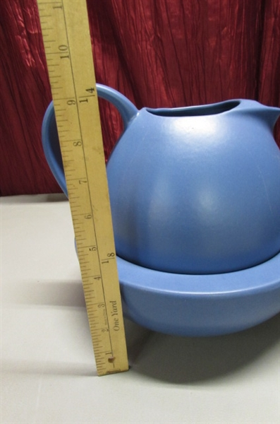 BRET BORTNER POTTERY - BOWL/PITCHER & CANISTER