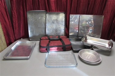 PYREX PORTABLES, COOKIE SHEETS, CAKE PANS & MORE