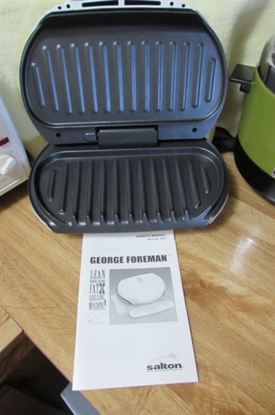 MAGIC CHEF TOASTER OVEN, GEORGE FOREMAN GRILL & COOKER/FRYER