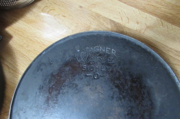 FRYING PANS, GUARDIAN SERVICE PAN, WAGNER WARE, SPLATTER GUARDS & STRAINERS