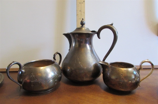 VINTAGE SILVERPLATE SERVING PIECES & MORE