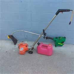 WEED EATER, BLACK & DECKER EDGER & TRIMMER, GAS CAN