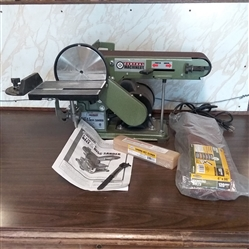 CENTRAL MACHINERY BELT & DISC SANDER AND ACCESSORIES