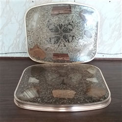 MID-CENTURY VINTAGE RESIN, METAL, WOOD, AND STONE TRAYS