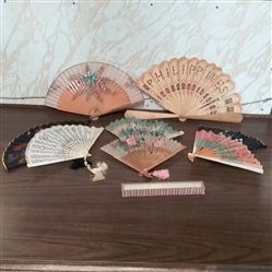 COLLECTION OF HAND FANS