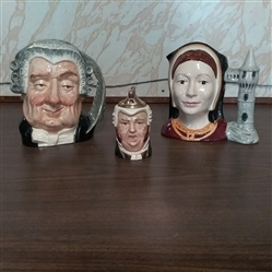ROYAL DOULTON MUG JUGS & BUZ FUZ LIGHTER