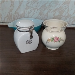 MIXING/ SERVING BOWLS, COOKIE JAR, AND CANISTER