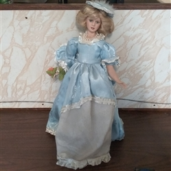 "19"" PORCELAIN DOLL"