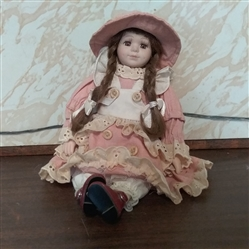 "11"" POSEABLE PORCELAIN DOLL"