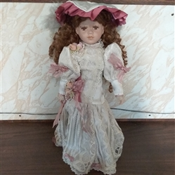 "18"" PORCELAIN DOLL"