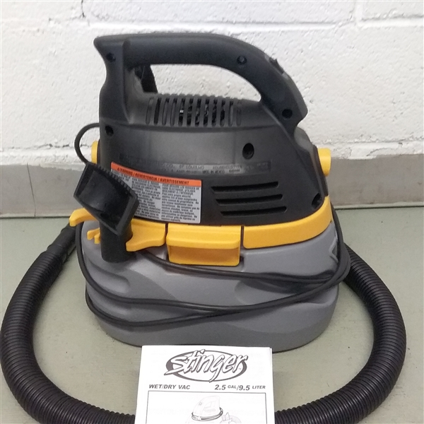 STINGER 2.5 GALLON WET/DRY VAC