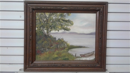 FRAMED ORIGINAL OIL PAINTING ON CANVAS