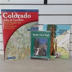 COLORADO TOPOGRAPHIC ATLAS, PCH AND THERES GOLD IN THEM THAR HILLS BOOKS