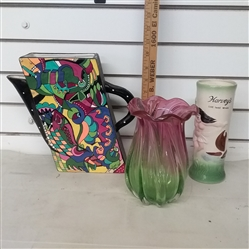 VASES AND TALL CUP