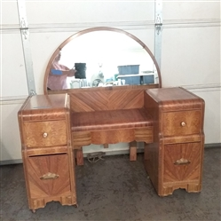 VINTAGE WATERFALL VANITY WITH MIRROR
