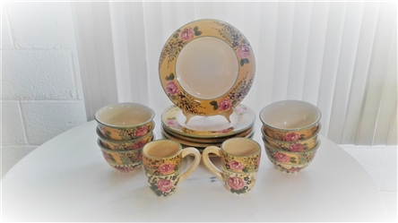 FRENCH GARDEN HAND PAINTED COLLECTION DINING SET