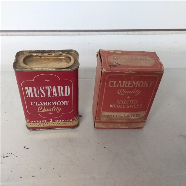 VINTAGE SPICE TINS, BOXES & KITCHEN UTENSILS