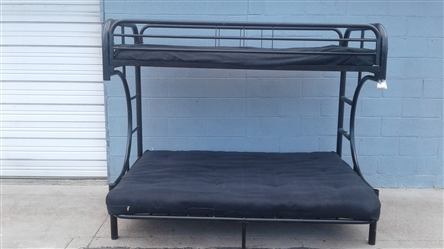 METAL FRAME TWIN & FULL FUTON BUNKBED