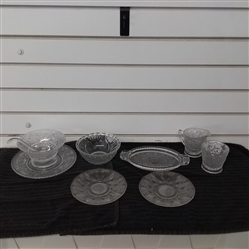 PRESSED GLASS DISHES