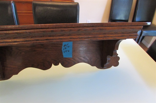 ANTIQUE OAK WALL SHELF