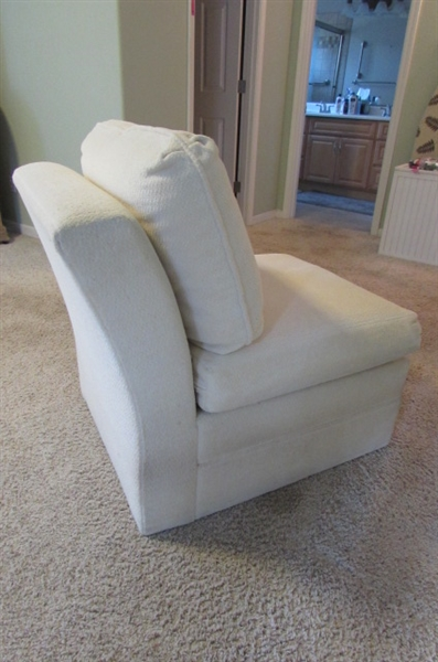 IVORY UPHOLSTERED CHAIR