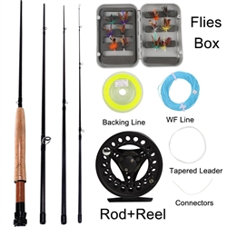 SOUGAYILANG SALTWATER FRESHWATER FLY FISHING ROD AND REEL COMBO KIT