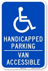 12 X 18 REFLECTIVE HANDICAPPED PARKING ENGINEER GRADE VINYL DECAL