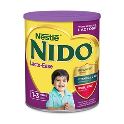 NESTLE NIDO WHOLE MILK POWDER LACTO-EASE REDUCED LACTOSE 1.76LB CANNISTER