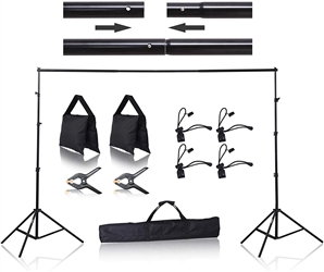 EMART 8.5 X 10 FT PHOTOGRAPHY BACKGROUND KIT