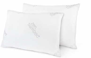 ZEN BAMBOO KING SIZE GEL-FIBER FILLED PILLOWSWITH BAMBOO COVER
