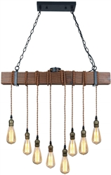 RUSTIC HANGING MULTI PENDANT LIGHT