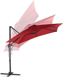VONHAUS RED ROMA OFFSET UMBRELLA