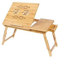 BAMBOO LAPTOP TABLE WITH USB FAN