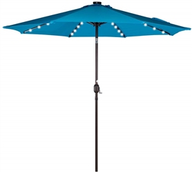 7 FT LED SOLAR PATIO UMBRELLA