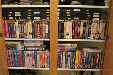 OVER 80 VHS MOVIES & DOCUMENTARIES