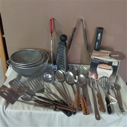 SERVING SPOONS, SPATULAS,  KITCHEN SCALE AND OTHER KITCHEN MUST HAVES