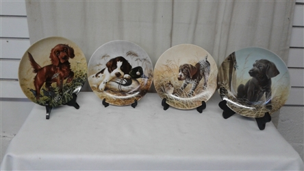 VINTAGE NUMBERED COLLECTIBLE DOG PLATES LOT OF 4