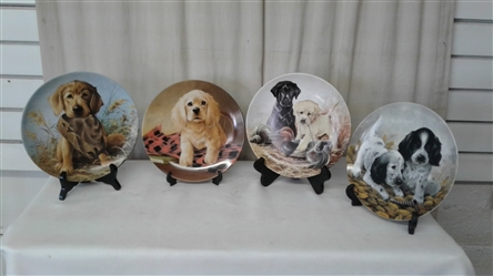 VINTAKE NUMBERED COLLECTIBLE DOG PLATES