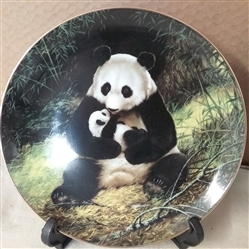 COLLECTIBLE PANDA PLATE AND PLATE FRAME
