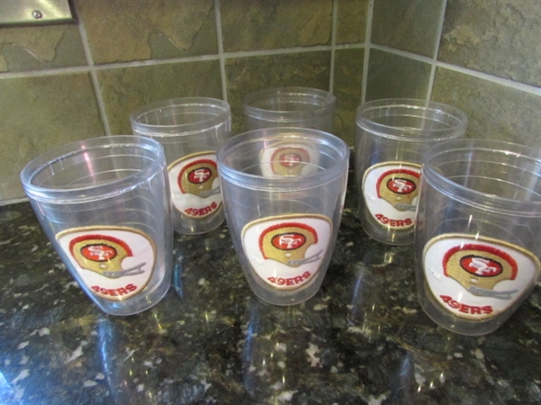 SAN FRANCISCO 49ERS GLASSES