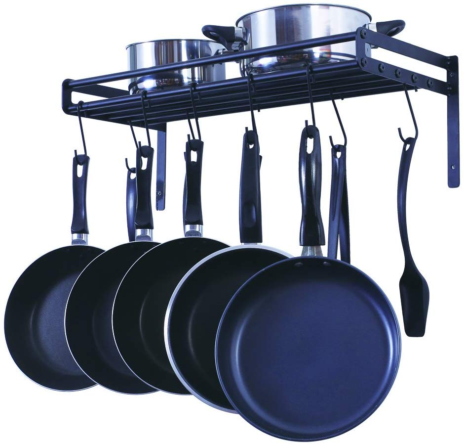 Lot Detail - WALL MOUNTED POTS AND PANS RACK