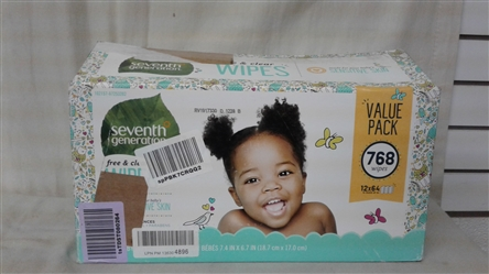 SEVENTH GENERATION SENSITIVE SKIN BABY WIPES 768