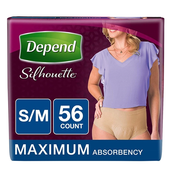 DEPEND Silhouette for women s/m maximum absorbency 2 28 packs