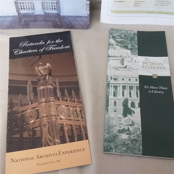 LEWIS & CLARK, LIBRARY OF CONGRESS, AND MORE BROCHURES AND MAGAZINES