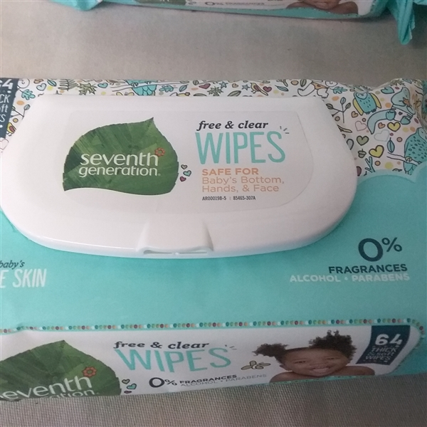 SEVENTH GENERATION FREE AND CLEAR WIPES 4 PK