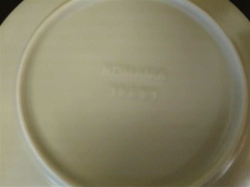 IVORY & BROWN DINNERWARE PLUS EXTRAS